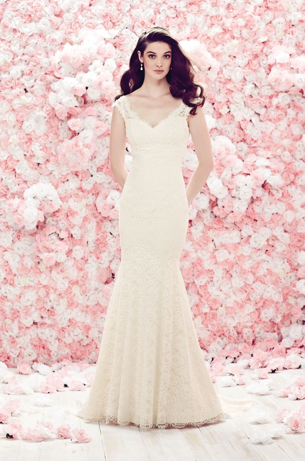 Beaded Empire Lace Wedding Dress - Style #1864