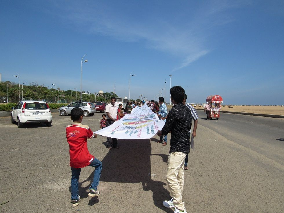 1330-feet Thirukkural banner at Marina