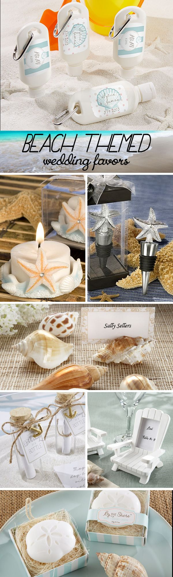 ideas for beach wedding party favors%0A     Beach Themed Wedding Favors that your guests will love