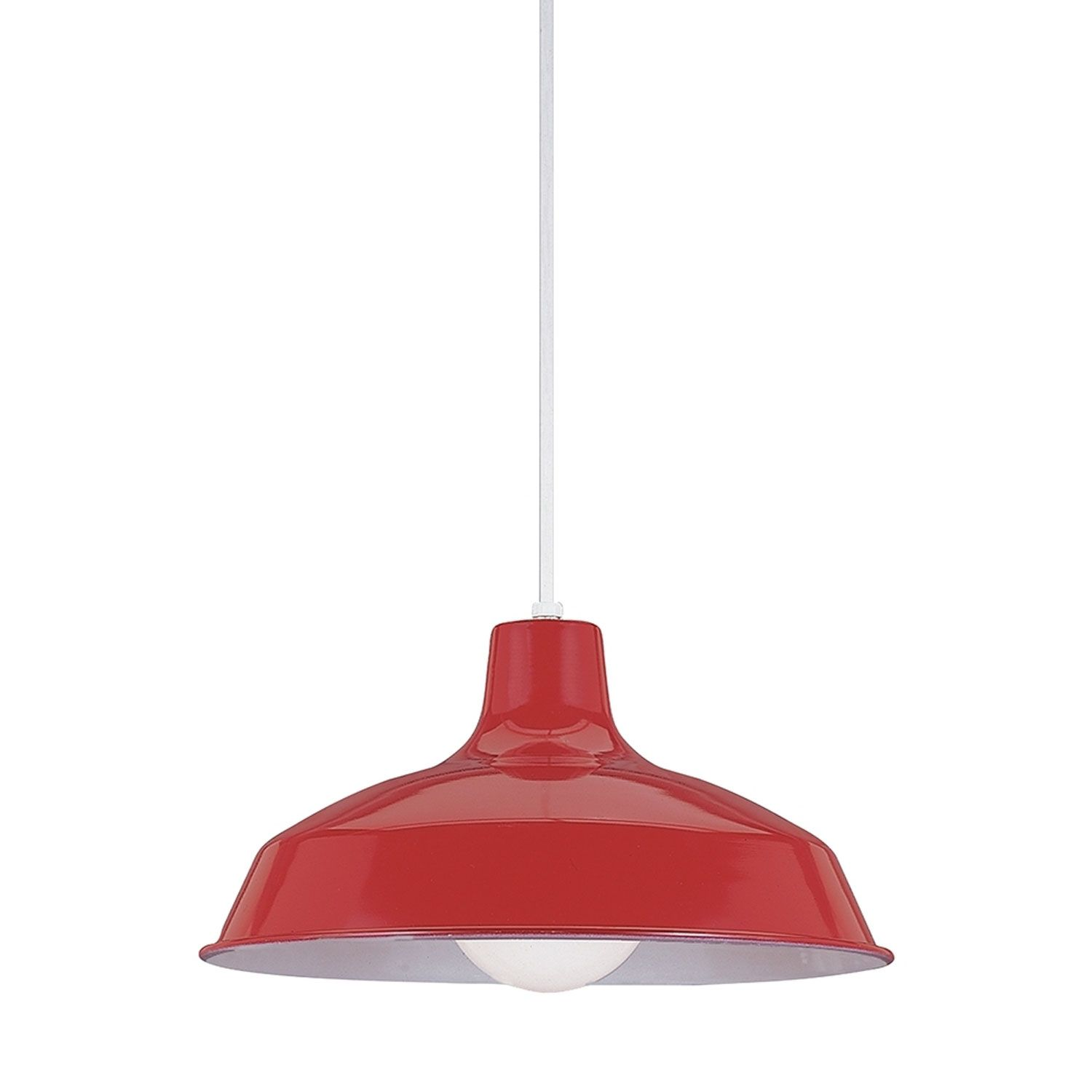 Sea Gull Lighting Red Dome Pendant On Sale