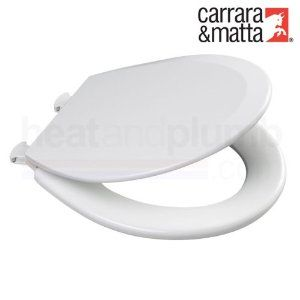 Carrara Matta PROSEAT White Moulded Wood Toilet Seat And Cover With  Adjustable Smartlift Take Off Plastic Hinges   Probably One Of The Best  Replacement ...