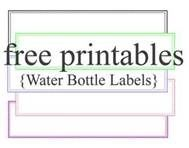 water bottle label template - Bing Images   Girls camp   Pinterest ...
