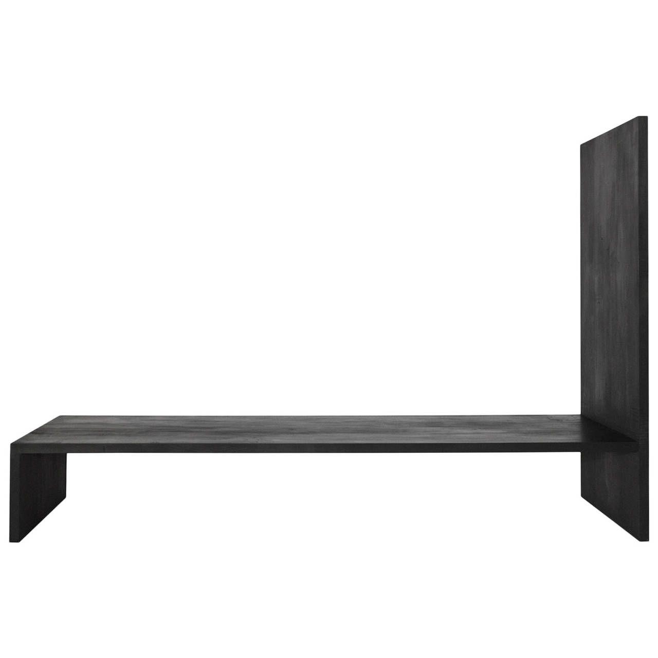Minimal Bench By Lukas Machnik In Black Minimal Bench And Oak  # Muebles Modulares Lukar