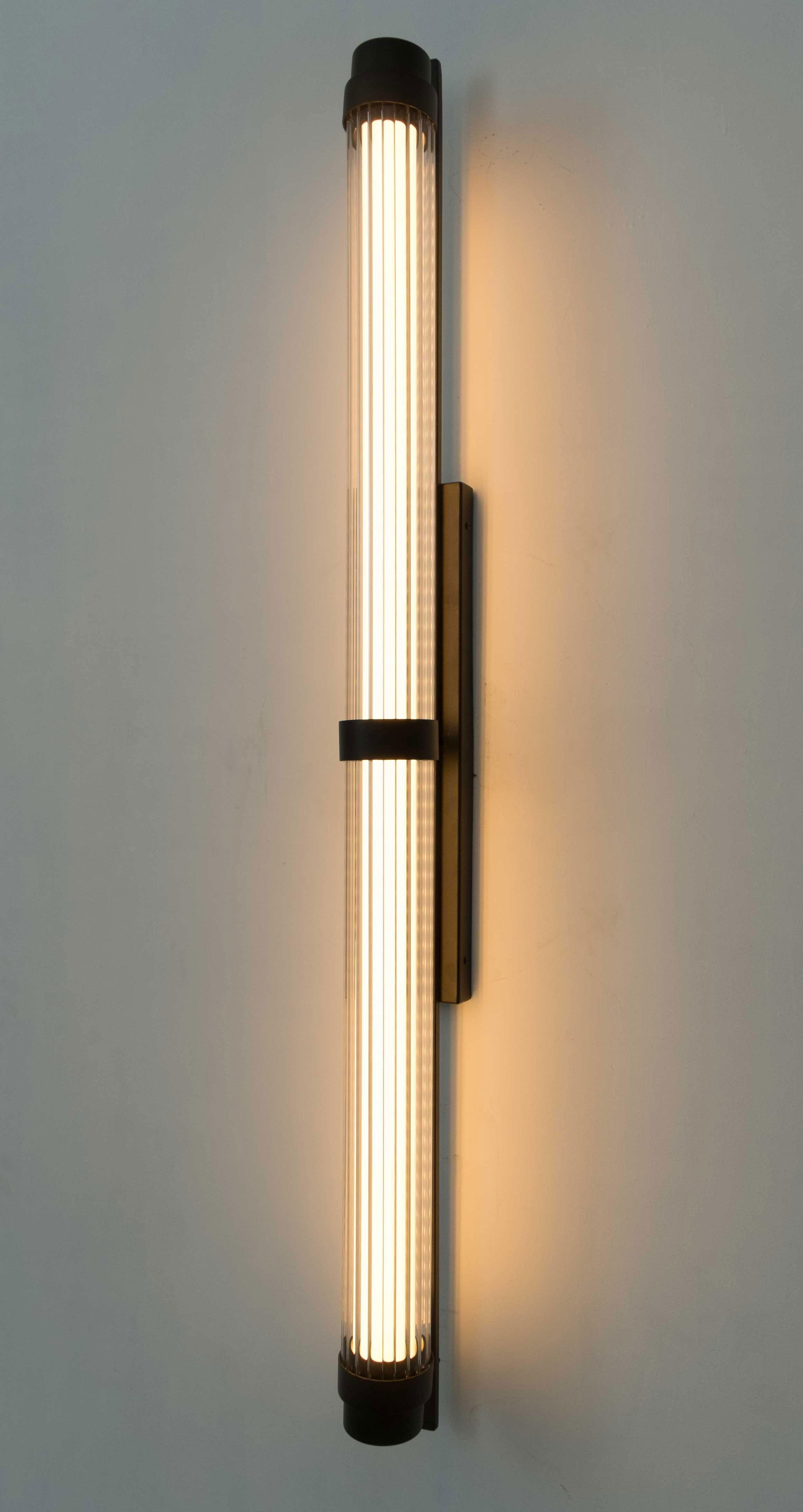 Aplique Pared Ba/ño Modern Led Wall Light L60 80 100cm Large Black /& Silver Body Led L/ámpara De Pared Ba/ño Espejo Luces Delanteras Ac110v 220v acabado negro