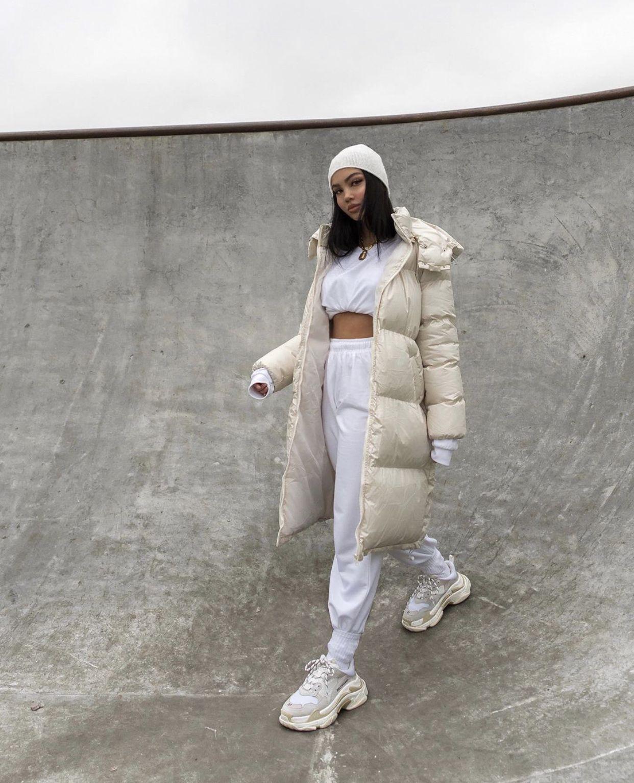Petite Cream Maxi Puffer Coat Winter Fashion Outfits Fashion Streetwear Fashion Women [ 1535 x 1242 Pixel ]