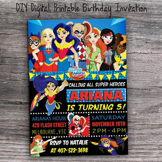 DC Super Hero Girls Birthday Party By FunkyMonkeyDigital