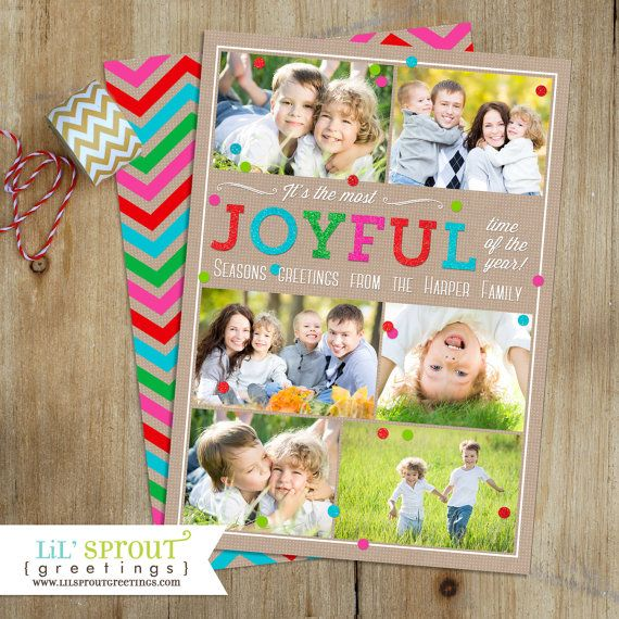 Colorful bright holiday photo card by lil sprout greetings colorful bright holiday photo card by lil sprout greetings holiday cards pinterest holiday photo cards photo cards and joyful m4hsunfo