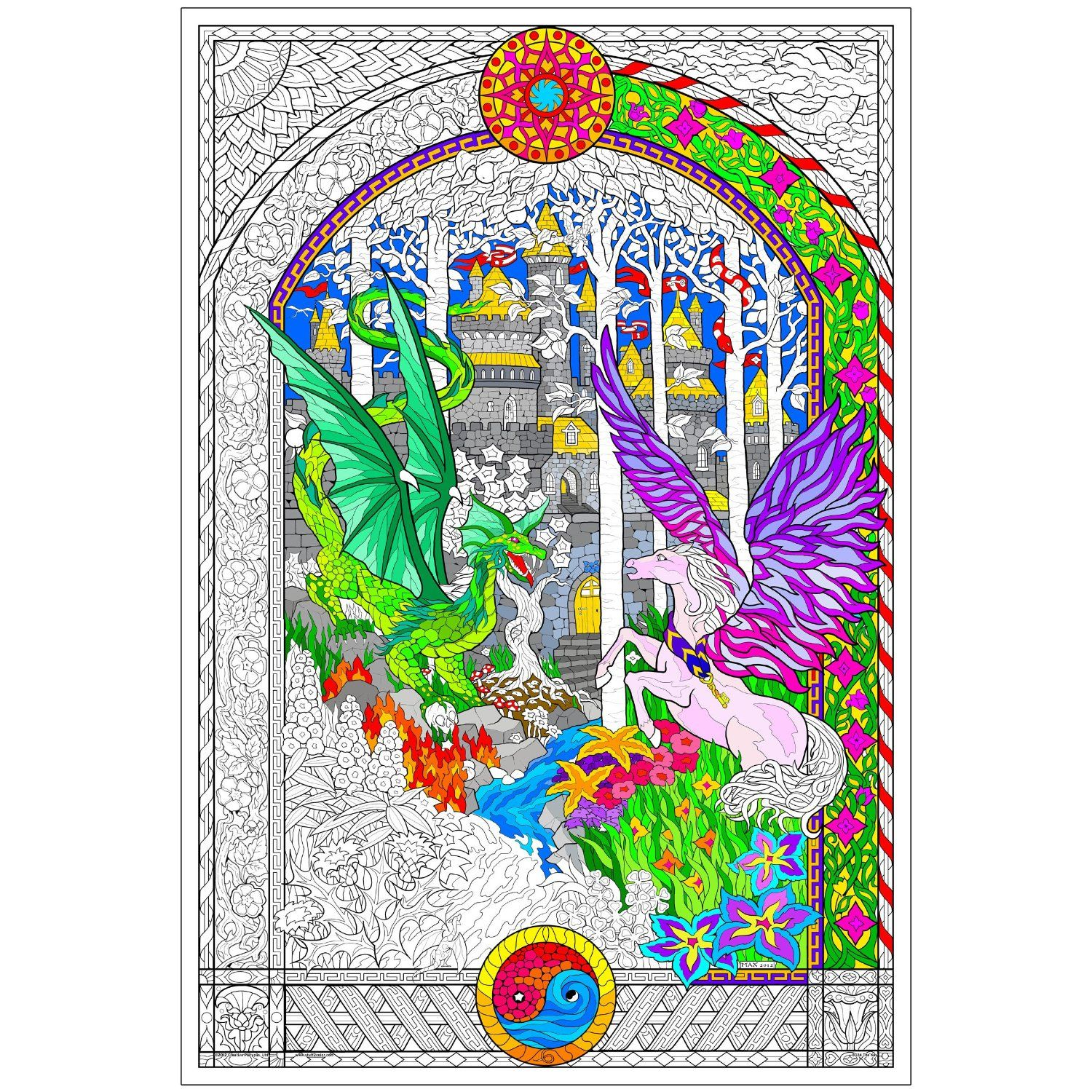 The Key - Giant 22 X 32.5 Inch Line Art Coloring Poster - Adult ...