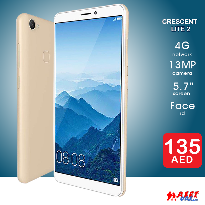 Smart Mobiles Introductory Offer Price Aed 135 Crescent Lite 2 4g 32gb 2gb Ram 13mp 5 7 Inch Dual Sim With 6 Months Warranty Gold Black