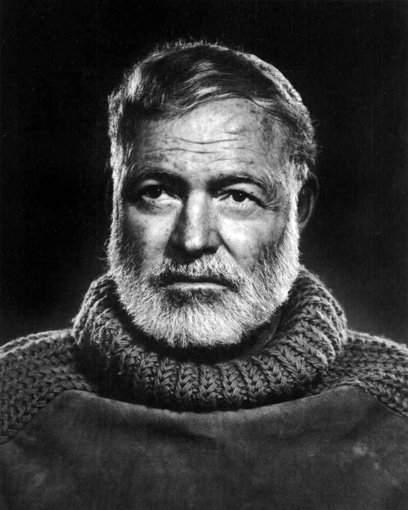 A Ernest Hemingway Black And White Turtle Neck 8x10 Picture Celebrity Print