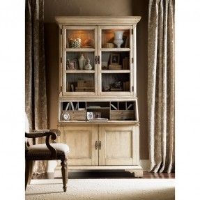 lexington twilight bay colette secretary desk with hutch antique linen