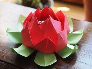 Origami Fleur De Lotus Origami Pinterest Origami