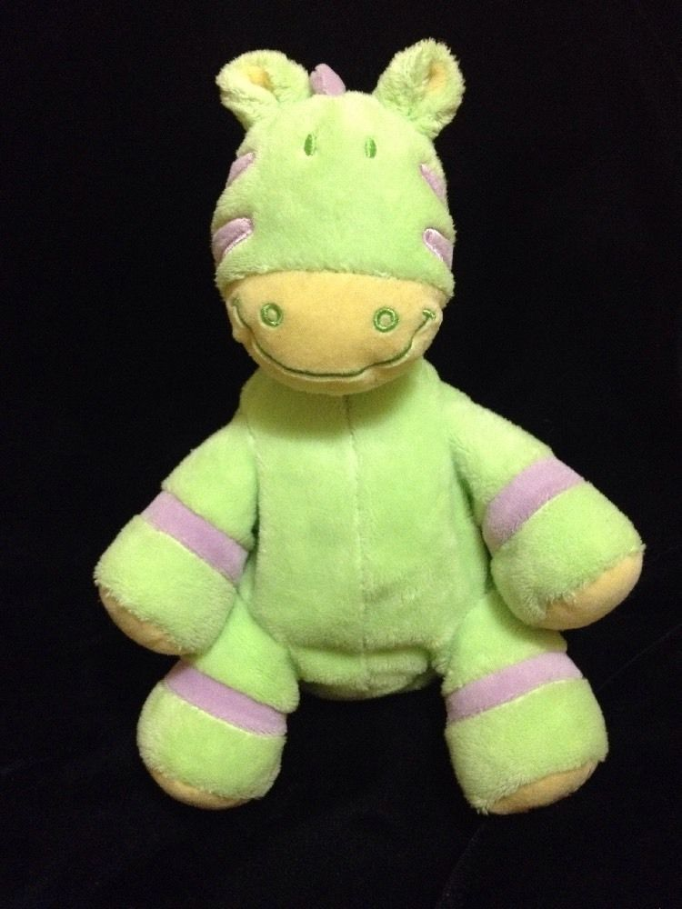 Bruin Green Zebra Soft Toy Plush Safari Toys R Us Stuffed