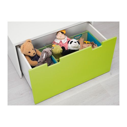 STUVA Storage Bench White/green 90x50x50 Cm