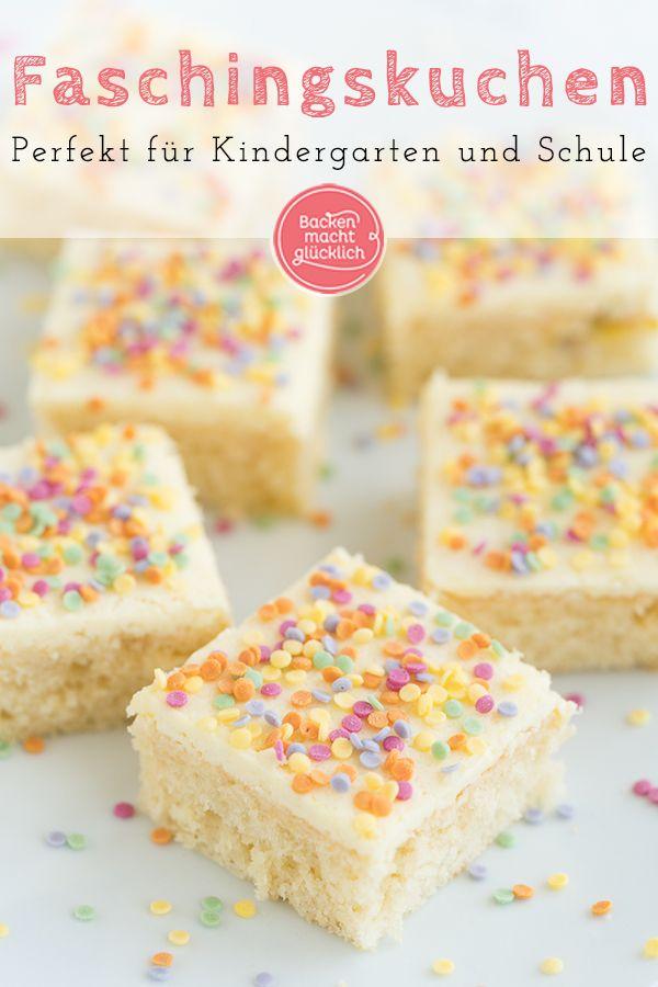 Konfetti-Kuchen vom Blech | Backen macht glücklich #savourycake