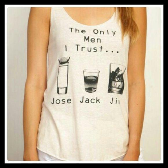 Jose Jack Jim graphic tank top