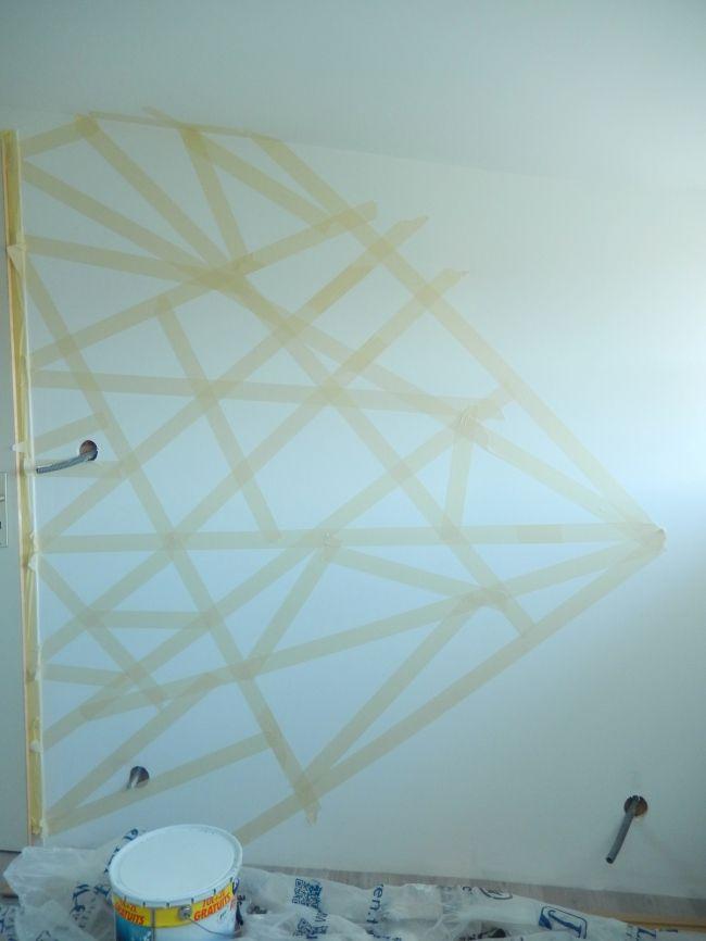 diy créer des murs graphiques 2 | mon-carnet-deco.com en 2019 | Idee deco peinture, Deco wc ...