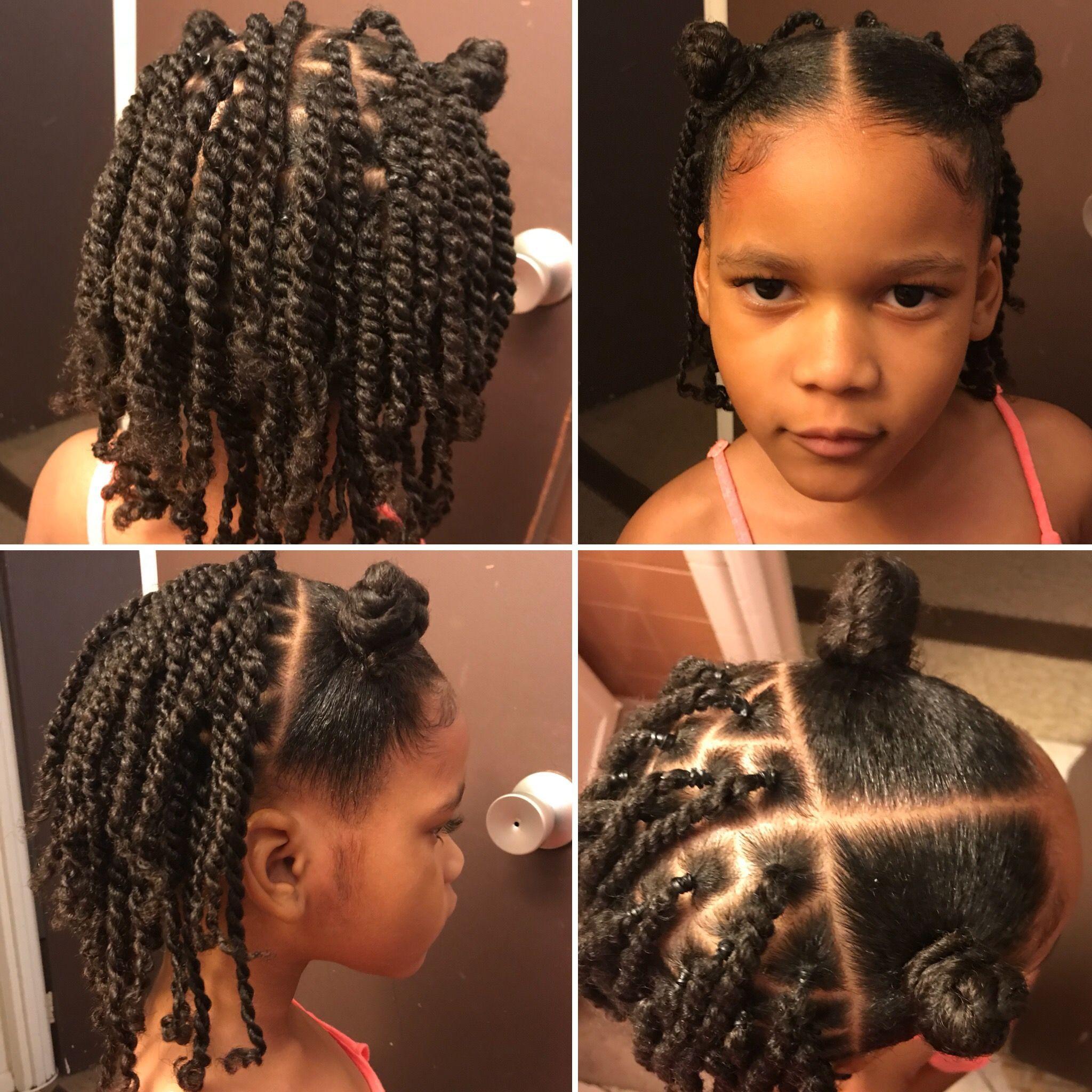 Daveigh Twist Buns Pretty Hairstyles Black Kids