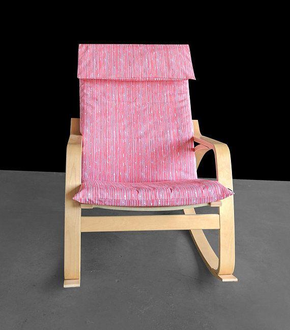 Pink Lines Ikea Poang Cover Custom Ikea Covers IKEA SLIPCOVERS AND