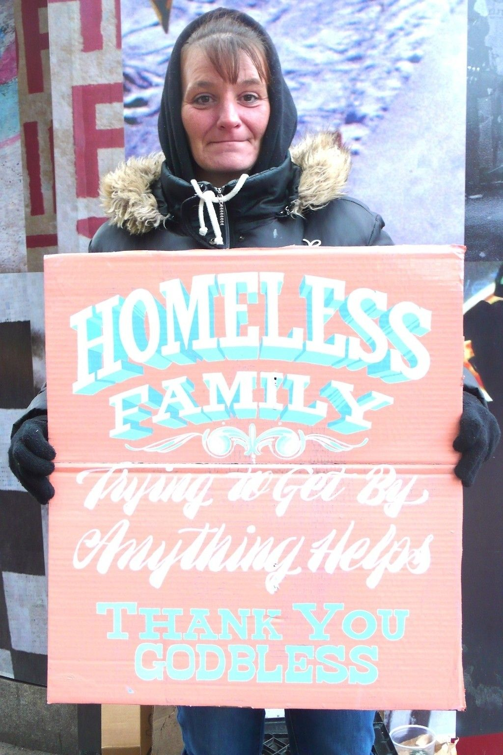 Artists Make Hand Painted Signs For Homeless People With Touching Results Graphic Design Help Hand Painted Signs Painted Signs