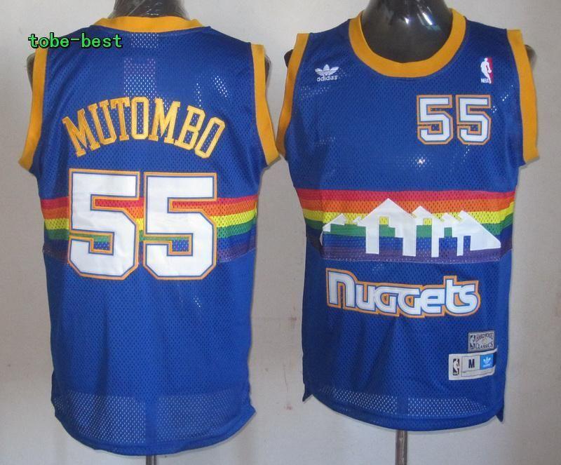 f118e7ae100  55 Dikembe Mutombo shirt Denver Nuggets Royal Blue Hardwood Classics  Swingman Jersey