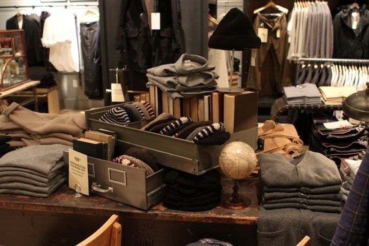 rustic men's clothing store homey, overflowing | Denim Inspiration ...