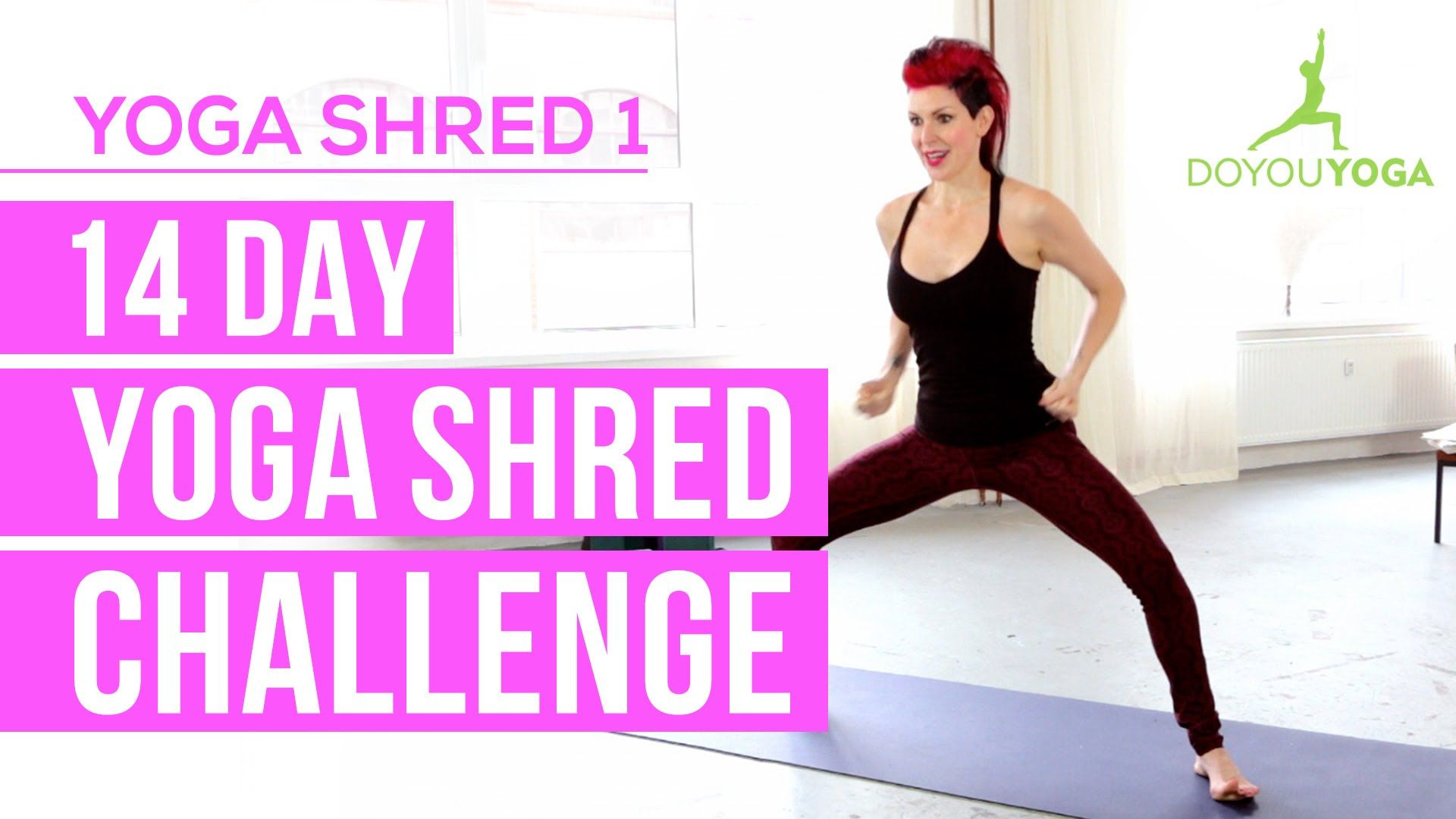 Cardio Yoga for Fat Burning - Day 1 - 14 Day Yoga Shred Challenge #cardioyoga