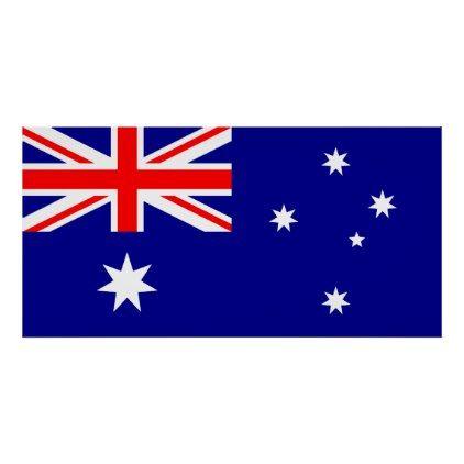 Patriotic Australian Flag Poster Zazzle Com In 2020 Australian Flags Australia Flag Flags Of The World