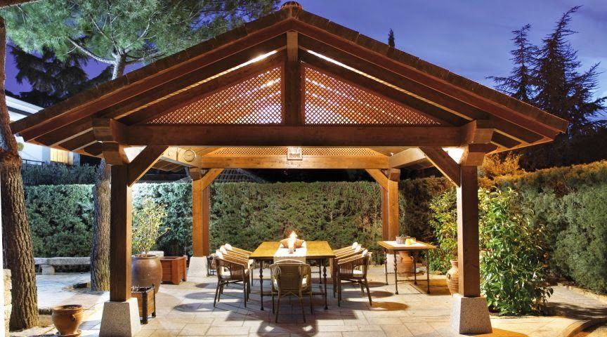 Cenador de jardín de grandes dimensiones | Terrace-balcony ...
