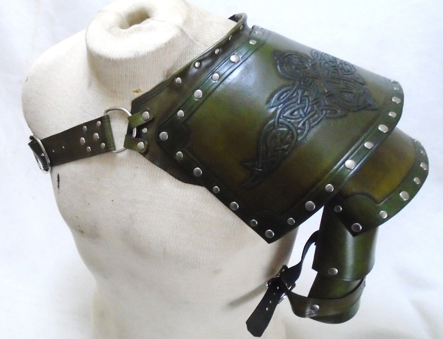 Green Celtic Pauldron
