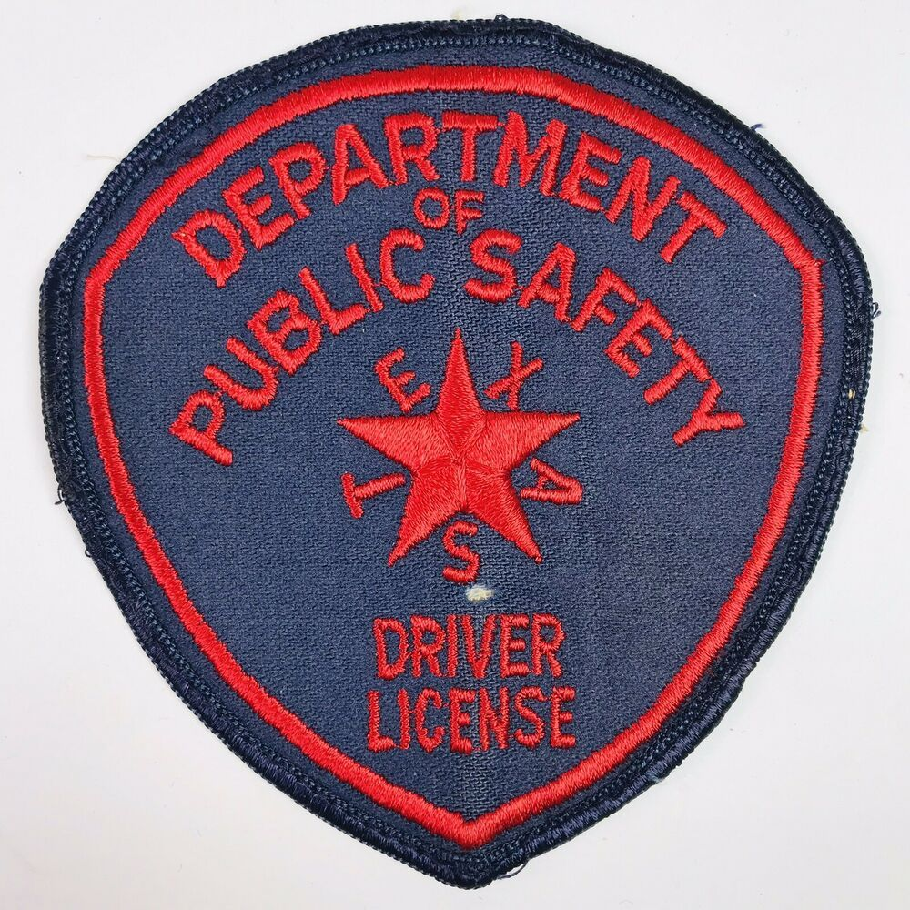 Texas Department of Public Safety Driver License Patch (B