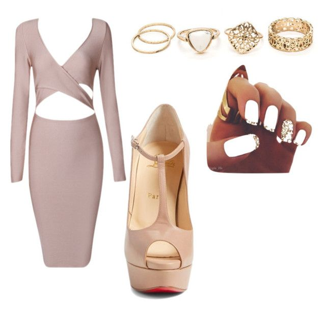 """night out"" by ayanaccute on Polyvore featuring Christian Louboutin"