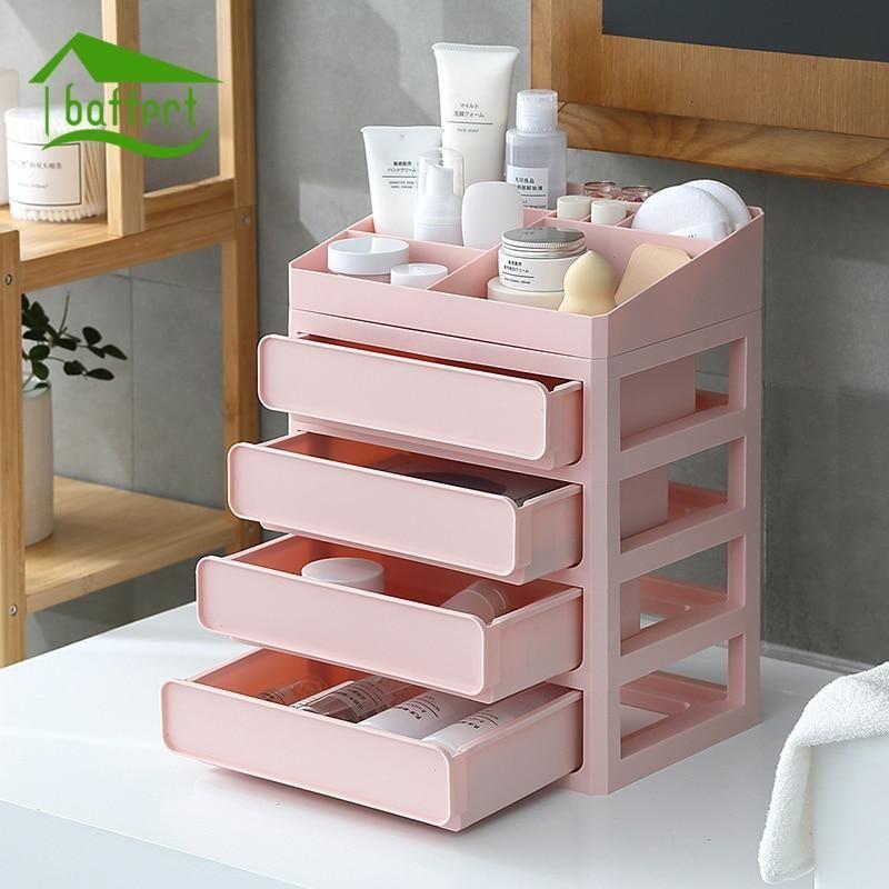Multi Layer Plastic Makeup Drawers Storage Box Cute Room Decor Makeup Drawer Storage Drawers