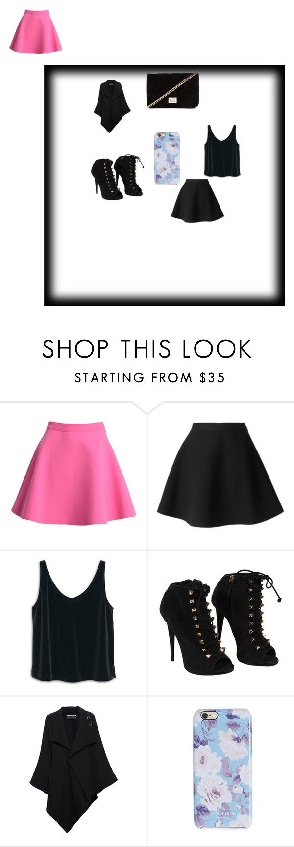 Black is the new yellow by foxtygirl on Polyvore featuring MANGO, Roland Mouret, MSGM, Giuseppe Zanotti, Forever 21 and Isaac Mizrahi