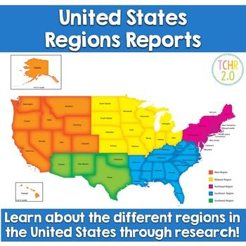 United States Regions Research | Pinterest | Student work, United ...