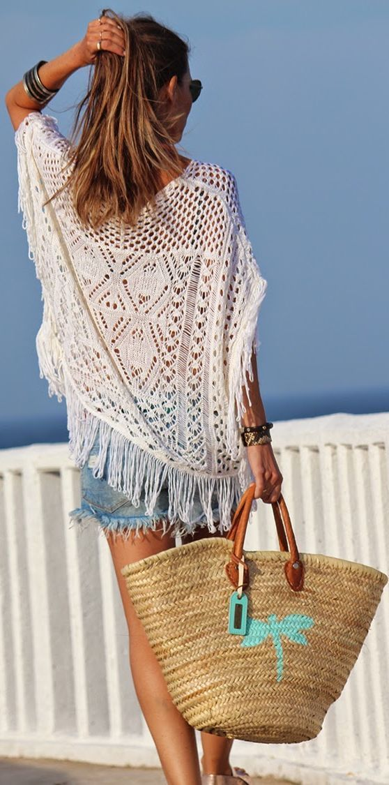 Stylish Ways To Wear Crochet Beach Covers Crochet And Beach