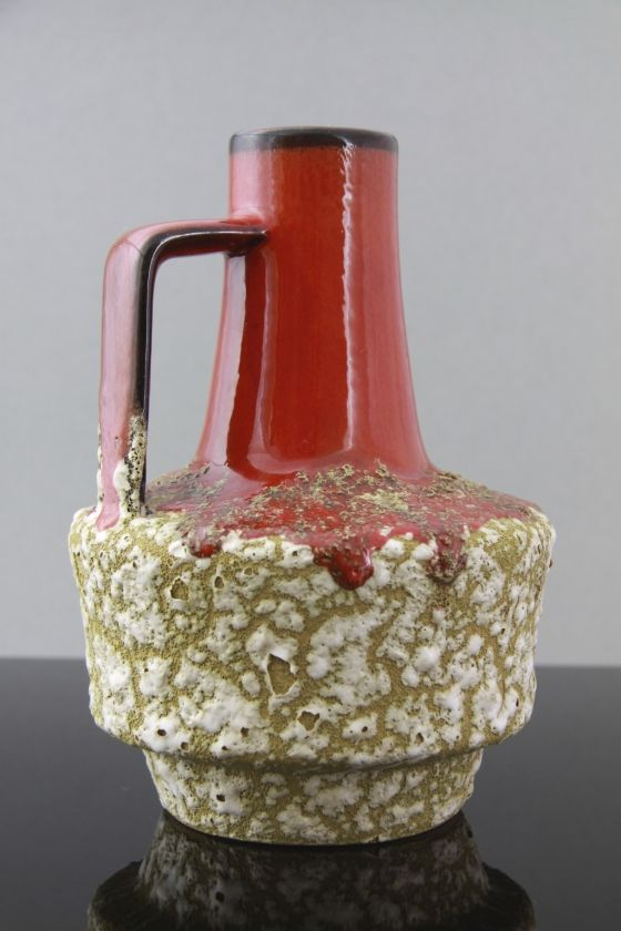 ES Keramik, West German Pottery Jug Vase with Foamy 'Fat Lava' Glaze by Hans Kraemer, circa 1960′s