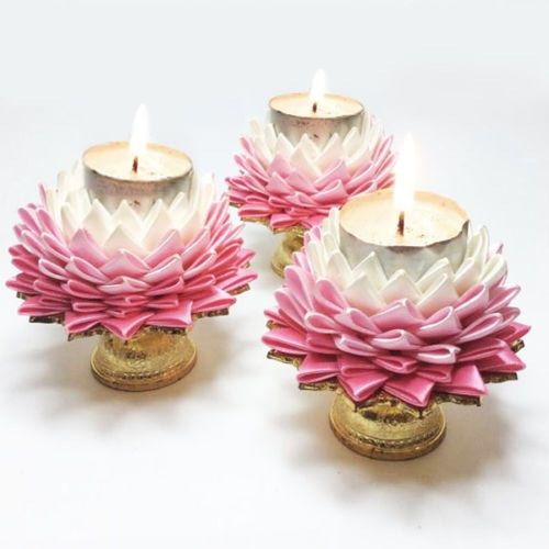 Thai Wedding Gifts: Beautiful Thai Lotus Flower Handmade Candle Holder Gift
