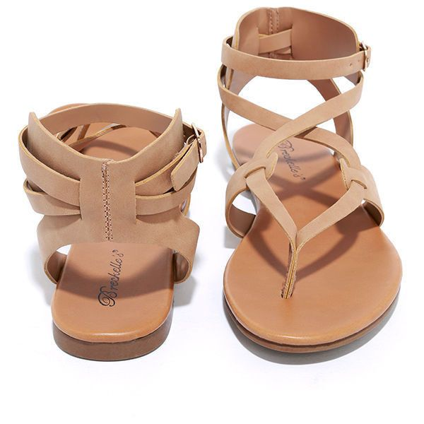 c29c5861c7 Boho Babe Natural Nubuck Thong Sandals ($19) ❤ liked on Polyvore featuring  shoes, sandals, toe thong sandals, boho shoes, nubuck sandals, strap sandals  and ...