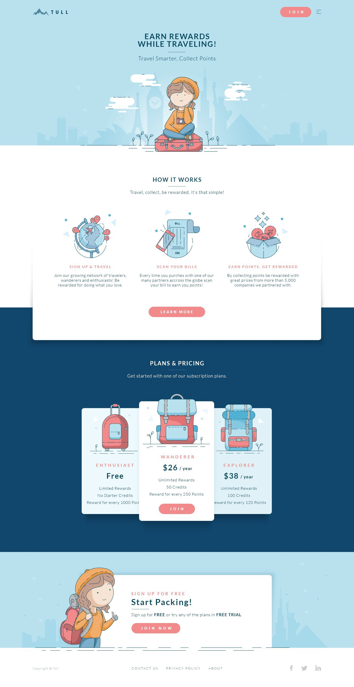 Travel Card Landing Page by Lucija Frljak | Dribbble | Dribbble