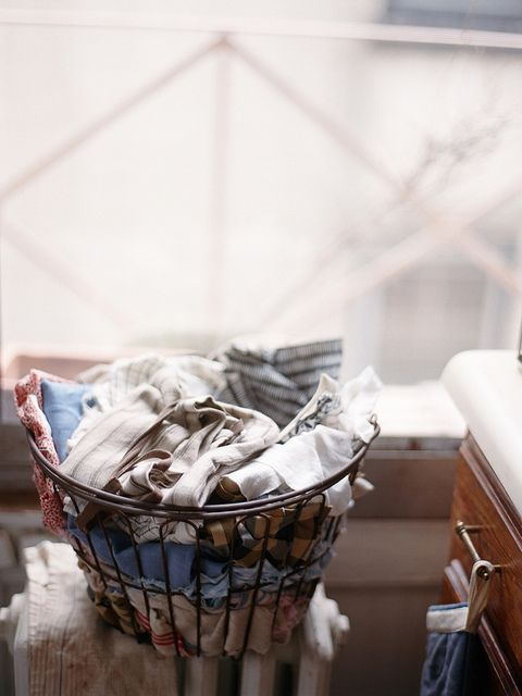 laundry.. yes I love doing laundry! Tis true! :)