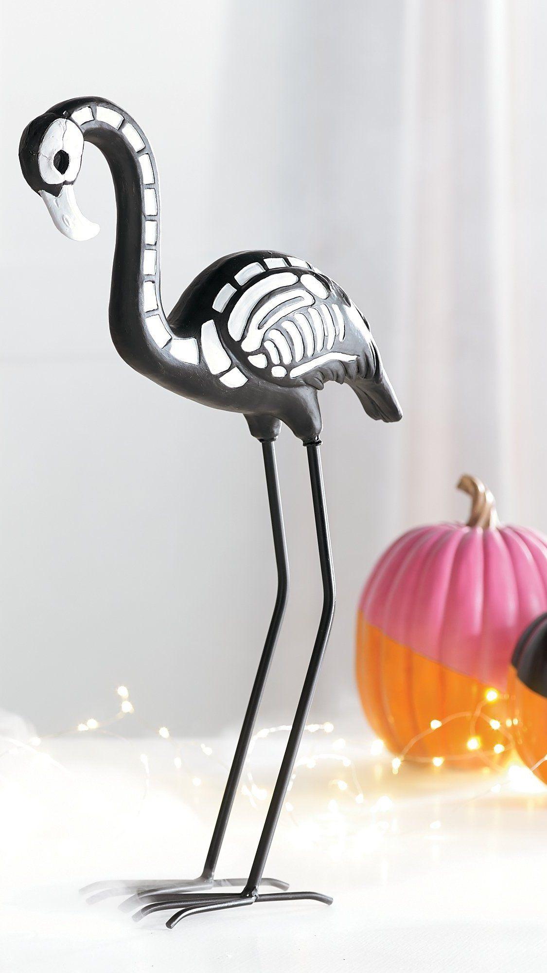 skeleton flamingo decor | halloween haven | pinterest | flamingo