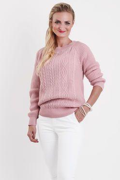 33b3350d4c Ružový vzorovaný dámsky sveter SANDY