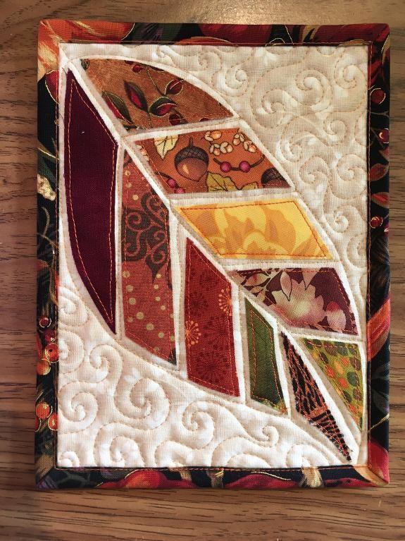 Leaf Mug Rug Mug Rug Patterns Fabric Postcards Flower