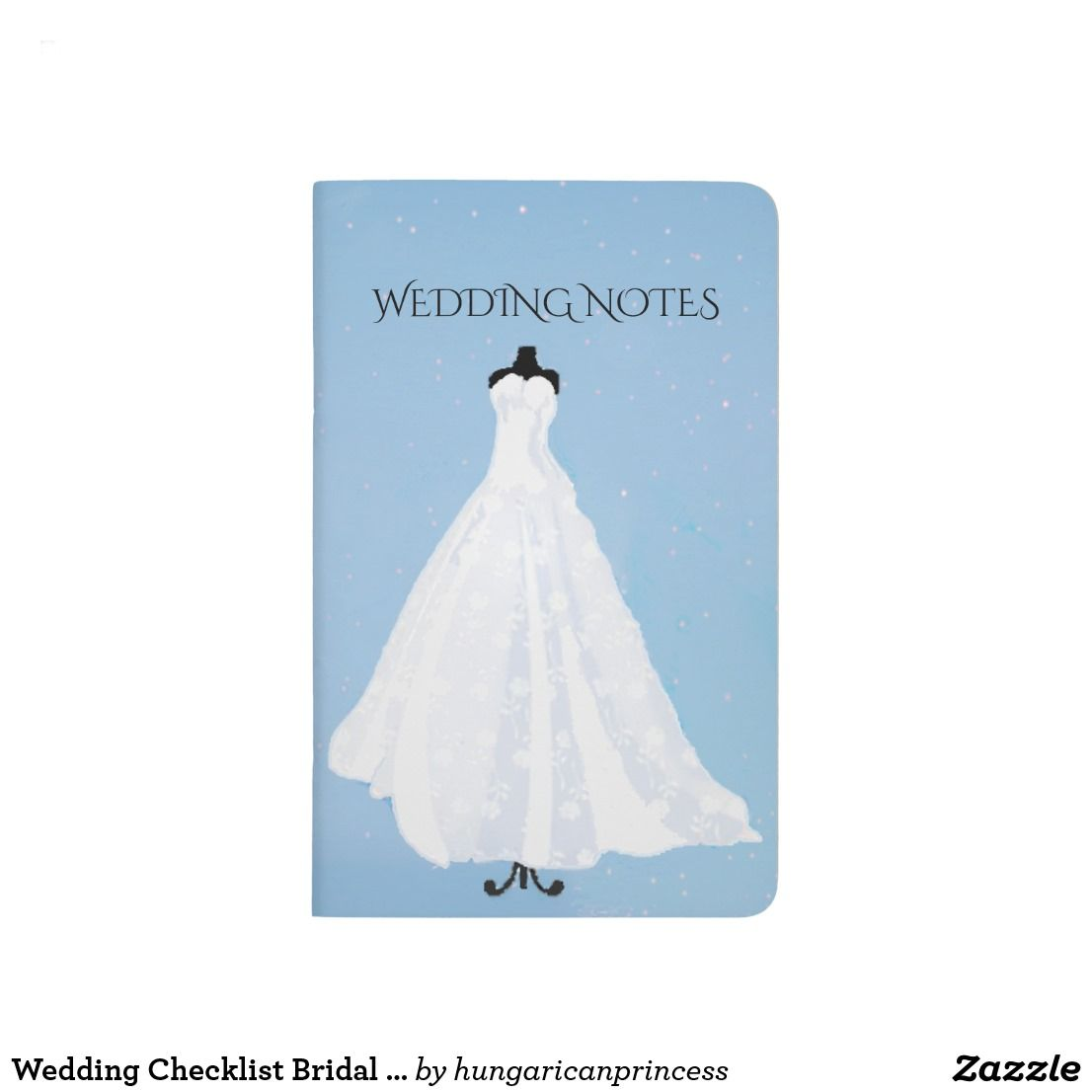 Wedding Checklist Bridal Gown Journal | Zazzle.com