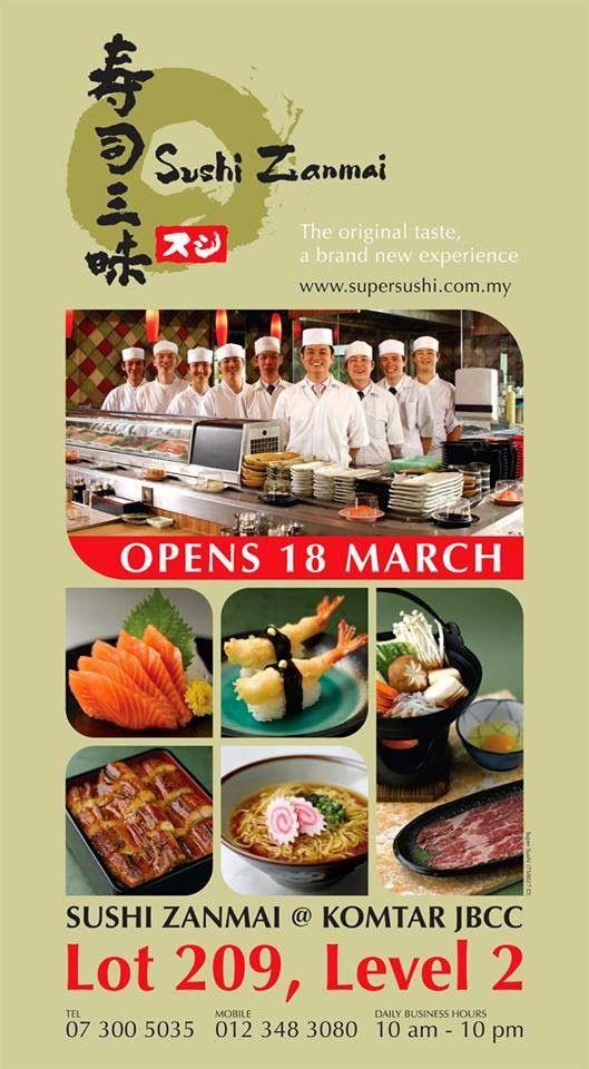 New Sushi Zanmai Outlet In Komtar Jbcc Sushi Foodie Foodie Pin