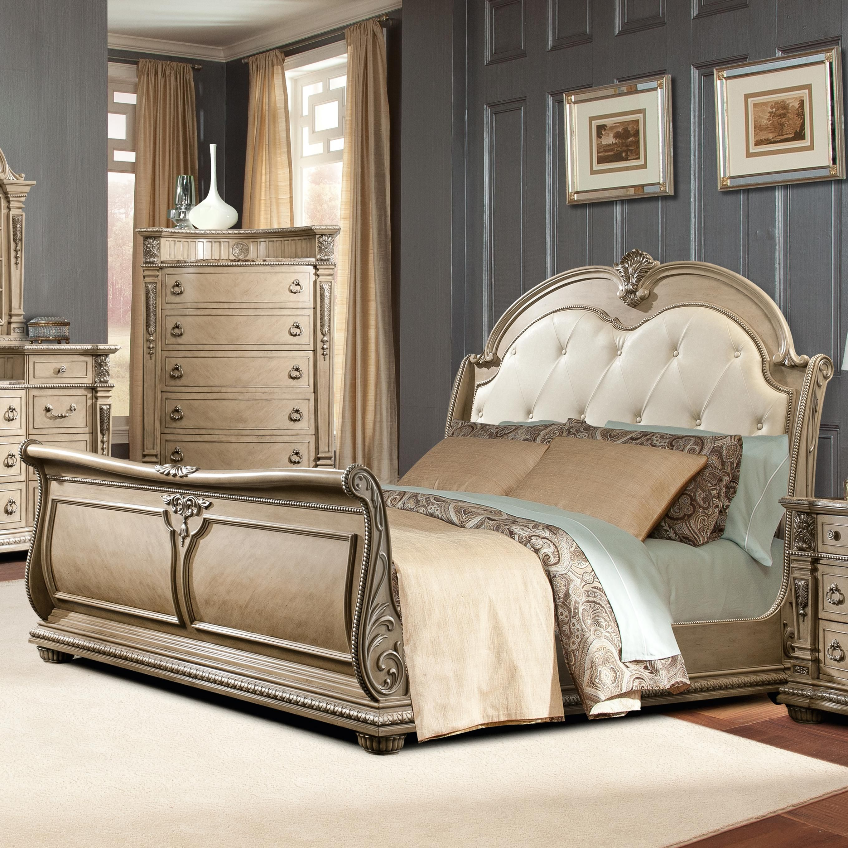 Monaco King Sleigh Bed by Davis International | home sweet home ...