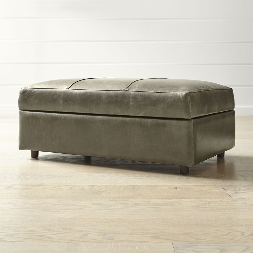 Barrett Leather Ottoman And A Half Reviews Crate And Barrel Leather Storage Ottoman Leather Ottoman Storage Ottoman
