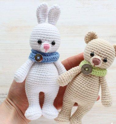 a52ec1bc81 Cuddle me bunny in scarf (free amigurumi pattern) // Ölelni való amigurumi  nyuszi sállal (ingyenes horgolásminta) // Mindy - craft & DIY tutorial  collection