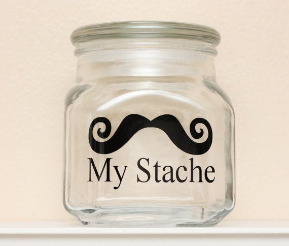 My Stache Mustache Money Jar Curly Handlebar By Thebeautifulhome Money Jars Jar Savings Jar